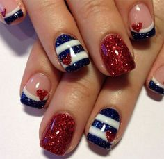 Fourth of July Nail Art 990 montenr com