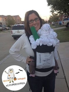 Starbucks for Halloween babywearing