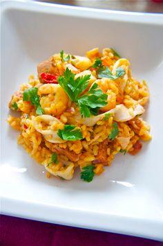 Paella, one of my favorite foods in Spain