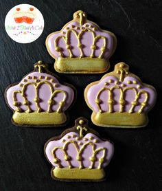 Crown Cookies by Wish I Had A Cake