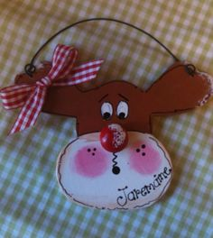 Reindeer Personalized ornament Christmas Holidays by EvansCraftHut, $4.50