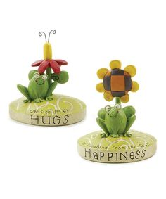 Take a look at this Frog 'Happiness & Hugs' Collectible by Blossom Bucket on #zulily today!