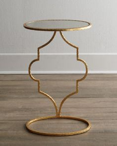 H6QTG Floating Arabesque Side Table #HORCHOW I'll place this beside the old hickory leather chair; right side of it to be exact. You can put something to munch on on top of this side table.