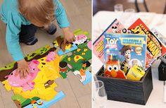 Puzzle, komiksy, zabawy dla dzieci na przyjęciu weselnym