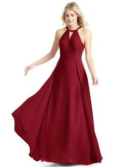 Shop Azazie Bridesmaid Dress - Azazie Emilia in Chiffon and Lace. Find the perfect made-to-order bridesmaid dresses for your bridal party in your favorite color, style and fabric at Azazie. Red Bridesmaids, Burgundy Bridesmaid Dresses, Azazie Bridesmaid Dresses, Grad Dresses, Wedding Party Dresses, Teen Dresses, Bridesmaid Bouquets, Bridesmaid Ideas, Prom Dress