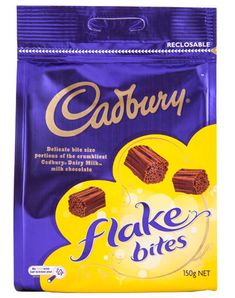 Cadbury: Flake Bites - (10 x 150g) Flake Chocolate, Cadbury Chocolate, Cadbury Flake, Foods For Abs, Cadbury Dairy Milk, Snack Recipes, Snacks, Vanilla Ice Cream, Bite Size