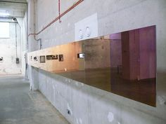 Transience installation for Alternativa 2012, International Visual Arts Festival in Gdansk Poland. Gradient mirror from silver on the left to dark purple on the right end. Special thanks to Arne Hend...