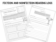 Daily Reading Log for your Students and to get parental