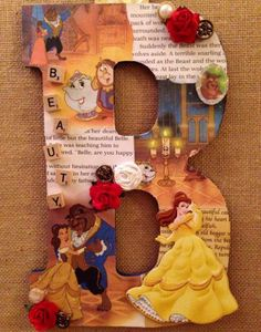 Any letter in this -Disney Beauty & the Beast -for a Nursery etc