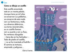 Como hace muchos días que no leemos poesías, aquí os dejamos una de Gloria Fuertes y que nos sirve para describir un castillo. ... Medieval, Blog, Website, Composition, English, Children's Literature, Frases, Interactive Activities, Blue Prints