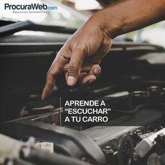 Recuerda que tu carro envía las señales cuando algo no va bien aprende a escucharlo y está atento esta es una de las principales claves a tener en cuenta para encontrar fallas y evitar que el daño de estas se incremente.  #Procuraweb #Repuestos #Carros #Venezuela #Consejos #Tips
