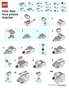 LEGO MMMB - January '11 (Polar Bear) Instructions by TooMuchDew, via Flickr