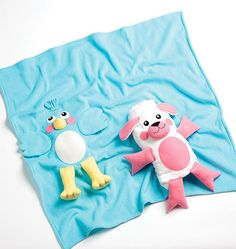 How cute is this? The blanket folds up to make a toy.  Ellie Mag Designs K128 toy and blanket sewing by ucanmakethis