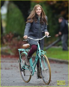 Chloe Moretz Rides Bike for 'If I Stay,' Reaches Twitter Milestone! | Chloe Moretz Photos | Just Jared
