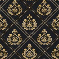 Victorian regal pattern seamless baroque vector image on VectorStock Motif Baroque, Baroque Design, Baroque Pattern, Pattern Art, Pattern Design, Pattern Flower, Motif Floral, Floral Border, Wall Stencil Patterns