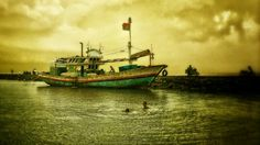 Probolinggo Harbour, East Java, Indonesia
