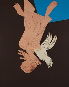 Late Master Tyeb Mehta's Work Titled falling Figure with bird to Lead Saffronart's Autumn Art Auction 2012