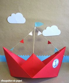 Diy And Crafts, Crafts For Kids, Paper Crafts, Sailor Theme, Monthly Baby Photos, Nautical Party, Baby Boy Birthday, Art Lessons Elementary, Preschool Crafts