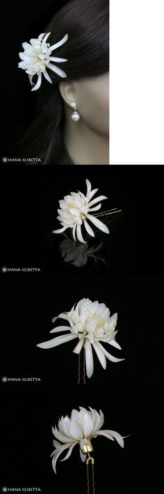 Hair Jewelry 164351: Queen Of The Night Resin Kanzashi Hair Pin -> BUY IT NOW ONLY: $175 on eBay!
