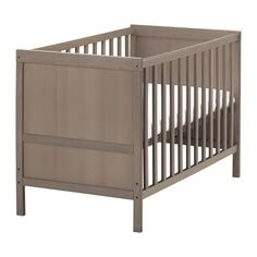 SUNDVIK Cot IKEA The bed base can be placed at two different heights. and other furniture & decor products. Ikea Baby Room, Ikea Crib, Baby Room Decor, Nursery Crib, Nursery Furniture, Ikea Furniture, Children Furniture, Furniture Stores, Cot Bedding