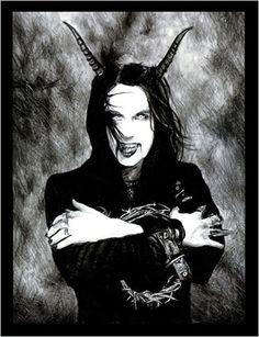 Dani Filth of Cradle of Filth Dani Filth, Cradle Of Filth, Band Logos, Metal Bands, Black Metal, Rock N Roll, Batman, Superhero, Anime