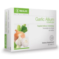 GNLD NeoLife Garlic Allium Complex is the only product of its kind to combine bioactive phytonutrients from whole-food garlic, green onions, leeks, and chiv Reducing High Blood Pressure, Blood Pressure Range, Healthy Blood Pressure, Garlic Supplements, Nutritional Supplements, Garlic Breath, Banana Contains, Natural Yogurt, Allium