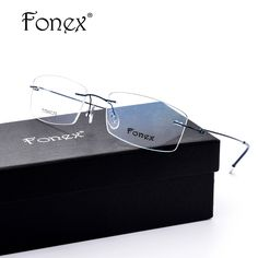 d97733f83aa promo fonex no screw ultralight design rimless titanium glasses frame men  prescription  designer  prescription