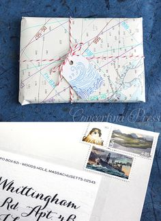 Nautical Chart Gift Wrap