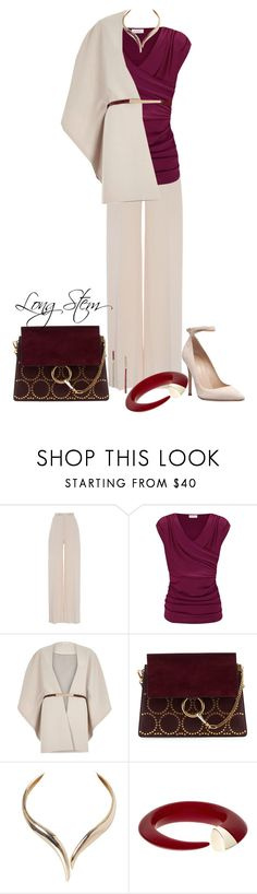 """""""3/03/2017"""" by longstem ❤ liked on Polyvore featuring Brandon Maxwell, Kaliko, River Island, Chloé, Humble Chic, Shaun Leane and Betsey Johnson"""