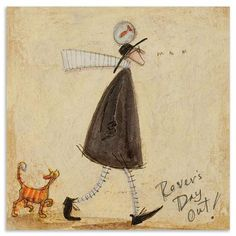 Sam Toft - Rovers Day Oiut, Box Canvas, 40 x 40 cm
