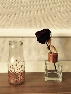DIY Up-cycling Transform used glass bottles or containers into decoration. Add some highlights with nail polish