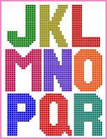 Plastic Canvas Alphabet on Sugar Tart Crafts Plastic Canvas Letters, Plastic Canvas Stitches, Plastic Canvas Christmas, Plastic Canvas Crafts, Canvas Designs, Canvas Patterns, Letter Patterns, Borax Crystals, Cross Stitch Letters