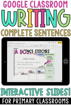 These Google Classroom digital writing complete sentences resources are perfect for teaching 1st grade, 2nd grade, and 3rd grade students how to write complete sentences. They include anchor charts, posters, worksheets, complete sentence centers, and more! Students will learn about subjects