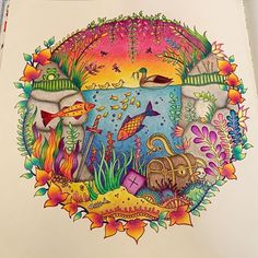 Fish enchanted forest by colouringpastime