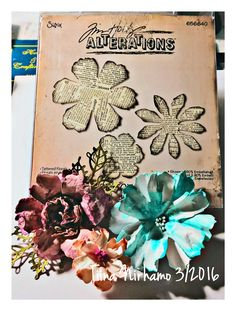 Tim Holtz tattered florals die  constantly looking for good #tools