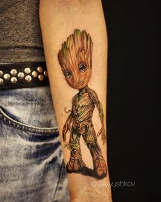 Baby Groot #familytattoocollective #groot #babygroot #groottattoo #guardiansofthegalaxy #tattoo #tattoos #tattooed #tattooedgirl #ink @eternalink #realistictattoo #тат #грут