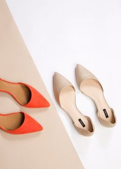 Pointed toe flat shoes - Women | MANGO