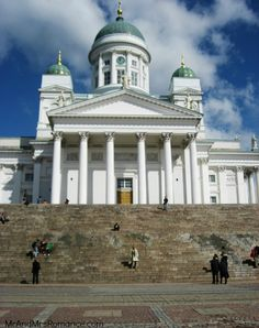 Helsinki, Finland is only a short ferry ride from Tallinn. This is the grand Helsinki Cathedral. Helsinki, Middle Ages, Time Travel, Old Town, Finland, Taj Mahal, Cathedral, Brick, Romance