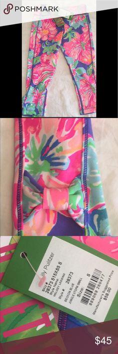 8ec214dd052dab NWT Lilly Pulitzer Melody Luxletic Legging -Small Girls Super soft Luxletic  leggings Cute bow on