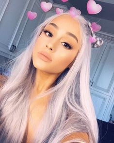 Ariana Grande debuts gray hair on Instagram