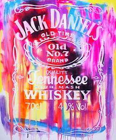 Jack Daniels, paint with a lot of colors a t-shirt
