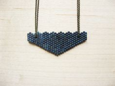 Beaded Triangle Pendant - How Did You Make This? | Luxe DIY