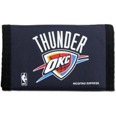 Oklahoma City Thunder Nylon Wallet by Rico. $14.49. Functionality that is Unbeatable.. Design is stylish and innovative.. Satisfaction Ensured. This is a special order item and takes longer to leave our warehouse, which is reflected in the estimate above Keep your money and valuables in this classic surf style nylon wallet. Feature money compartment, three inner compartments, three photo sleeves, hook and loop fastener closure.. Save 52% Off!