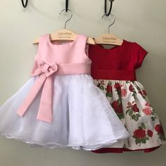 Baby Girl Christmas Dresses, Dresses Kids Girl, Tutus For Girls, Kids Outfits Girls, Girl Outfits, Baby Girl Fashion, Kids Fashion, Pretty Dresses, Baby Dress