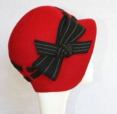 Cloche hat.