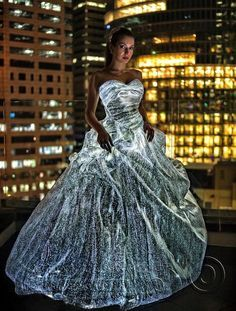 luminous Fabric (fiber optic fabric) :: xlaurieclarkex - omg this actually exists!! I need unlimited money, free time, and a good reason...