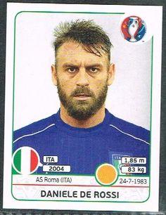 UEFA EURO 2016 Daniele De Rossi Italy - 504 #Panini #stickers #Italy #Derossi