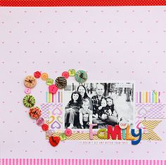 Our Family by Becky Williams featuring Bella Blvd Button Market - Scrapbook.com