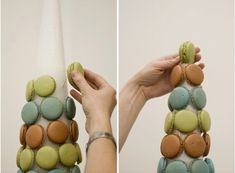 Dessert Table DIY: How to Create a Macaron Tower - Project Wedding