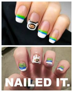 My fail at 'Adventure Time' nails.